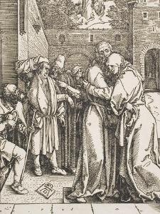 "Joachim and Saint Anne Meet at the Golden Gate, from the Series ""The Life of the Virgin"", 1504 by Albrecht Dürer"