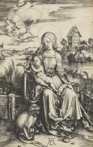 La Vierge à l'Enfant au macaque by Albrecht Dürer