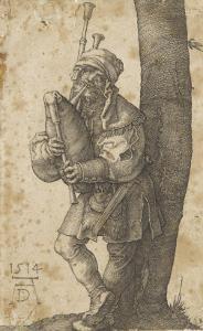 Le joueur de cornemuse by Albrecht Dürer