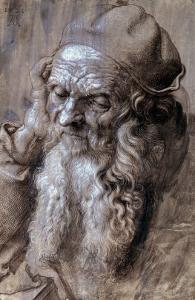 Old Man, or Study for a Saint, Brush Drawing on Brown Paper, 1521 by Albrecht Dürer