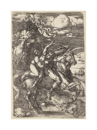 Abduction on a Unicorn, 1516