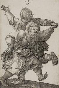 Peasant Couple Dancing, 1514 by Albrecht Dürer