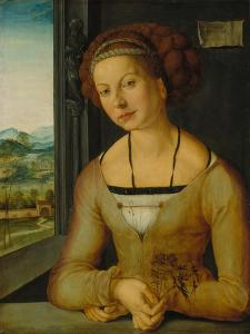 Portrait of a Younf Woman with Braided Hair by Albrecht Dürer