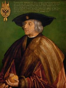 Portrait of Emperor Maximilian I (1459-151), 1519 by Albrecht Dürer