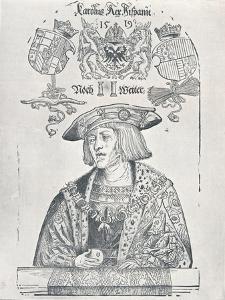 Portrait of the Emperor Charles V, 1519 by Albrecht Dürer