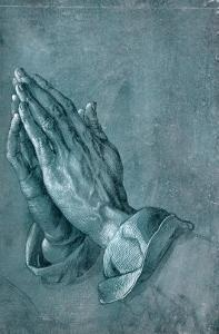 Praying Hands, 1508, Point of Brush and Black Ink, Heightened with White, on Blue Prepared Paper by Albrecht Dürer