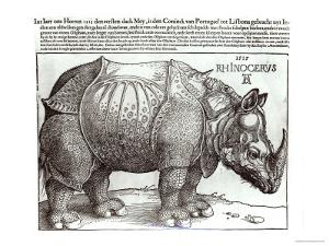 Rhinoceros, Print Given to Maximilian I by the King of Lisbon, 1515 by Albrecht Dürer