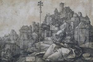 Saint Anthony in Front of the Town, 1519 by Albrecht Dürer