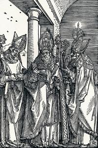 Saints Nicholas, Ulrich and Erasmus, 1508 by Albrecht Dürer