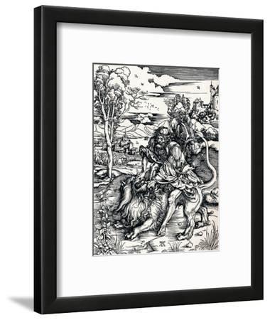 Samson Rending the Lion, 1497