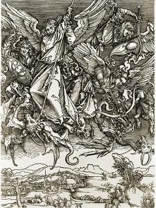 St. Michael Fighting the Dragon by Albrecht Dürer