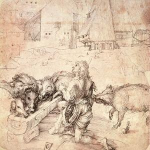 Study for an Engraving of the Prodigal Son by Albrecht Dürer