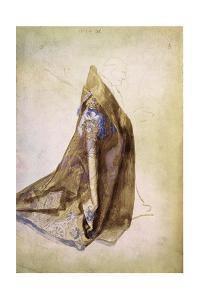 Study for the robe of Pope Julius II for The Virgin with the Wreath of Roses. Watercolour (1506). by Albrecht Dürer