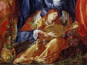 The Festival of the Rosary, Detail of the Angel Musician, 1506 by Albrecht Dürer