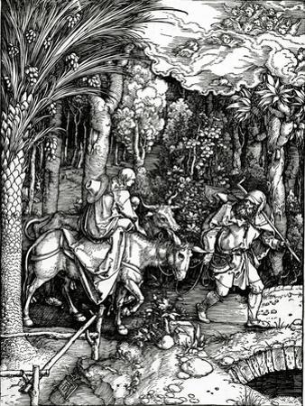 The Flight into Egypt, from the 'Life of the Virgin' Series, Published in 1511 (Woodcut)