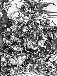 The Four Horsemen of the Apocalypse, 1498 (Woodcut) by Albrecht Dürer