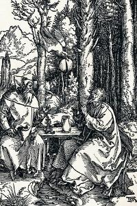 The Hermits St Anthony and St Paul, 1504 by Albrecht Dürer