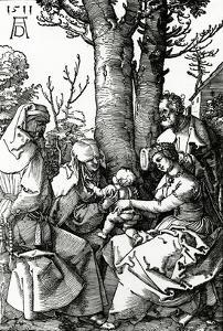 The Holy Family with St. Anne and St. Joachim, 1511 (Woodcut) by Albrecht Dürer