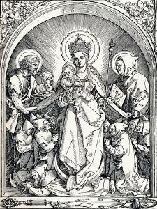 The Madonna with the Carthusian Friars, St John the Baptist and St Bruno, 1515 by Albrecht Dürer