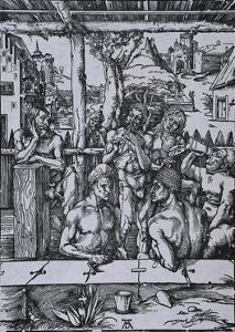 The Men's Bath by Albrecht Dürer