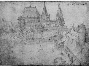 The Minster at Aachen, 1520 by Albrecht Dürer