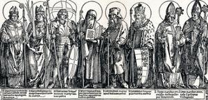 The Patron Saints of Austria, 1515 by Albrecht Dürer