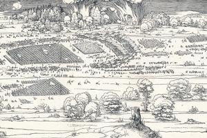 The Siege of a Fortress Ii, 1527 by Albrecht Dürer