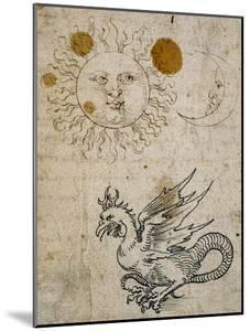 The Sun, The Moon and a Basilisk, Around 1512 by Albrecht Dürer