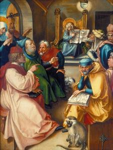 The Twelve Year-Old Jesus in the Temple, from the Altar: the Virgin's Seven Agonies, 1495-96 by Albrecht Dürer