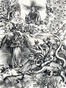 The Woman Clothed with the Sun and the Seven-Headed Dragon, 1498 by Albrecht Dürer