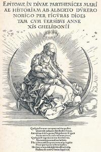 Title Page of the Life of the Virgin, 1511 by Albrecht Dürer