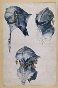 Trois études d'un casque by Albrecht Dürer