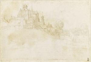 Vue de Bergen op Zoom by Albrecht Dürer
