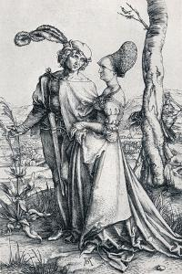 Young Couple Threatened by Death (Or the Promenade), 1495, by Albrecht Dürer