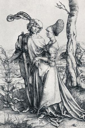 Young Couple Threatened by Death (Or the Promenade), 1495,