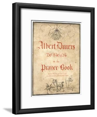 Albert Dürer's Designs for the Prayer Book, 1817