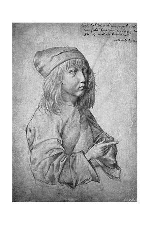 'Albrecht Durer at the age of thirteen. From a drawing by himself', 1484, (1906)