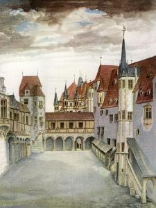 Castle Courtyard, Innsbruck, 16th Century by Albrecht Durer