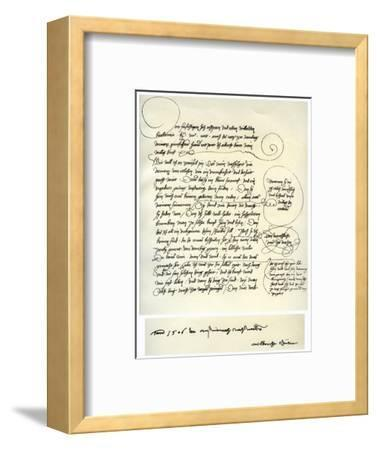Draft of Albrecht Durer's Dedication to Bilibald Pirckheimer, C1523