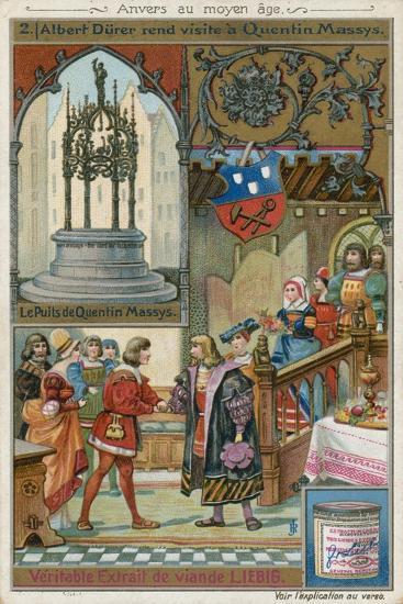 Albrecht Durer Paying a Visit to Quentin Matsys, 1520--Giclee Print