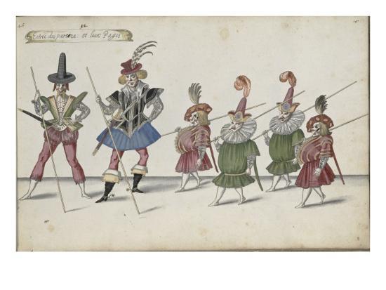 Album ; Ballet de la Douairière de Billebahaut et Ballet des fées des forêts de Saint Germain-Daniel Rabel-Giclee Print