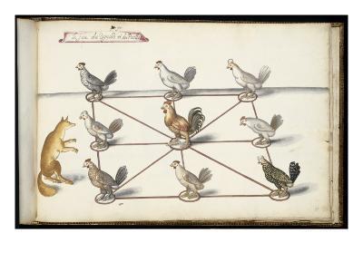 """Album ; Ballet  Fées  Forêts de Saint Germain ; """"Jeu du renard et  pou""""; huit figures-Daniel Rabel-Giclee Print"""