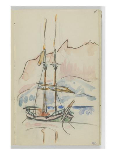 Album : bateau à deux mâts-Paul Signac-Giclee Print