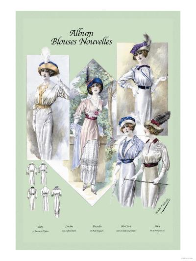 Album Blouses Nouvelles: A Bit of Sophistication--Art Print