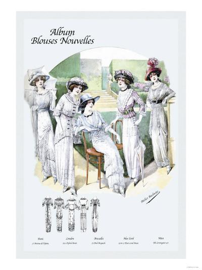 Album Blouses Nouvelles: Leisure on the Lawn--Art Print