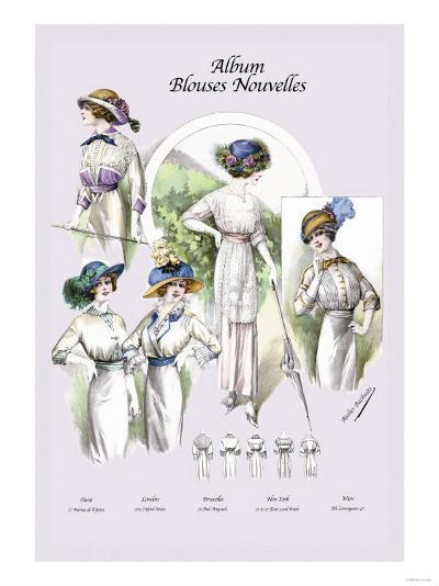Album Blouses Nouvelles: On a Hillside--Art Print