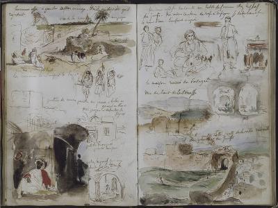 Album d'Afrique du Nord et d'Espagne-Eugene Delacroix-Giclee Print