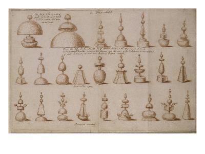 """Album """"décoration intérieure et jardins de Versailles""""--Giclee Print"""