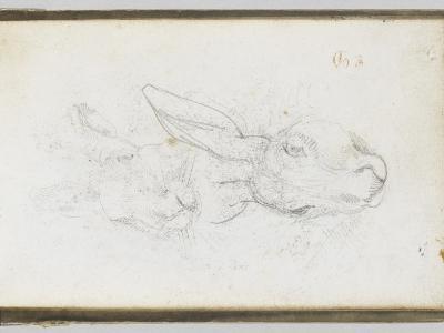 Album : Deux t�s de li�e-Eugene Delacroix-Giclee Print
