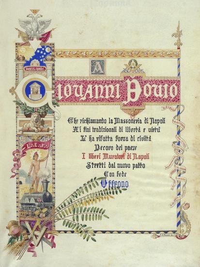 Album Donated by Neapolitan Masonic Lodges to Giovanni Bovio, Cover, Italy--Giclee Print